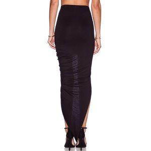 BLQ BASIQ Skirts - 🆕 BLQ BASIQ WRAP MAXI SKIRT IN BLACK BLQB-WQ8